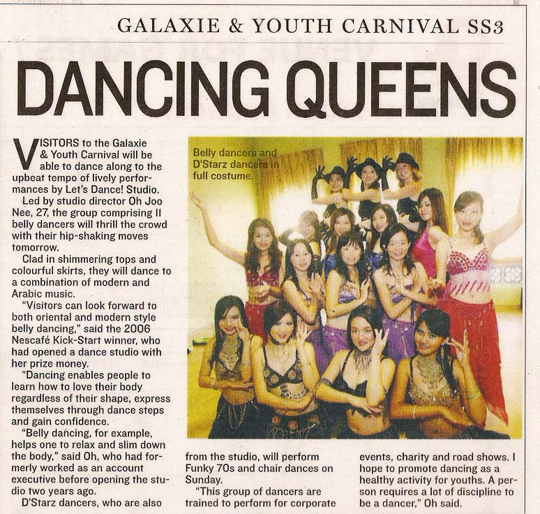 Star Galaxie Newspaper Article - Let's Dance Studio - Dancing Queens